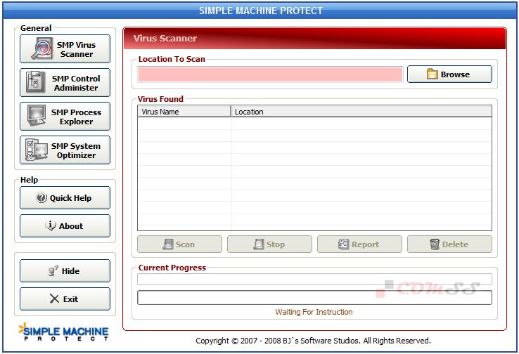 Скриншот антивируса Simple Machine Protect 1.9.4