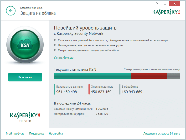 Скриншот антивируса KASPERSKY ANTIVIRUS 2016 BETA