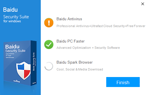Скриншот антивируса Baidu Security Suite