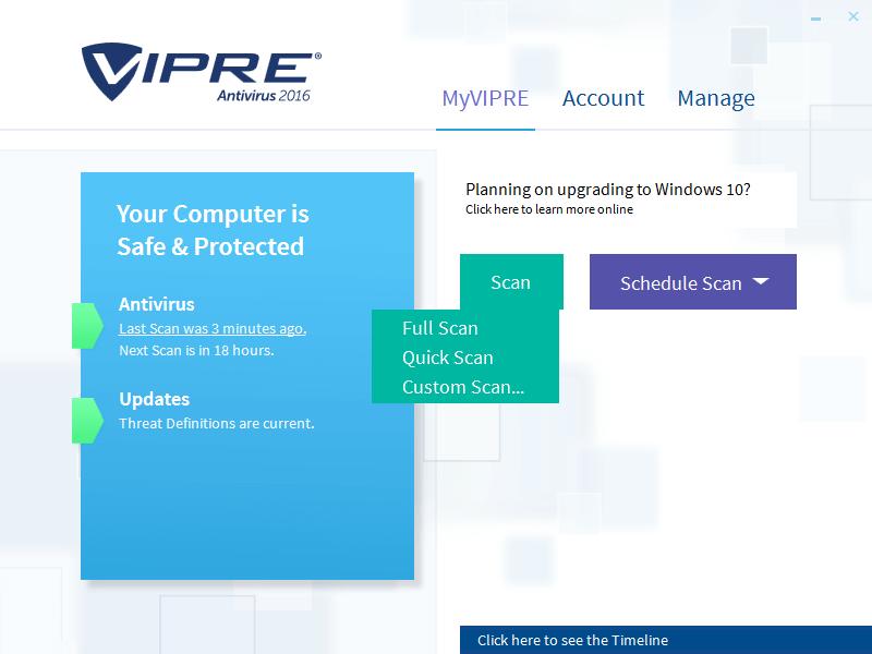 Скриншот антивируса VIPRE Antivirus