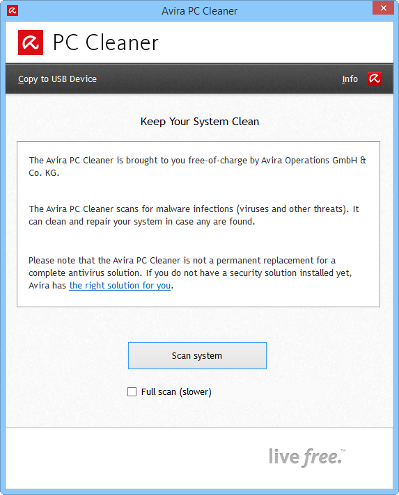 Скриншот антивируса Avira PC Cleaner