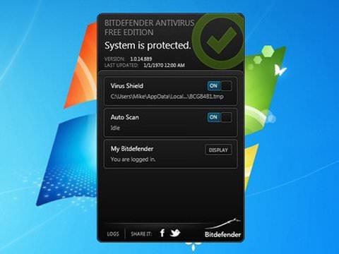 Скриншот антивируса Bitdefender Antivirus Free Edition