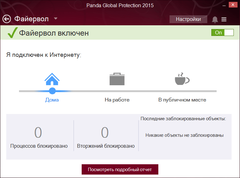 Скриншот антивируса Panda Global Protection 2015