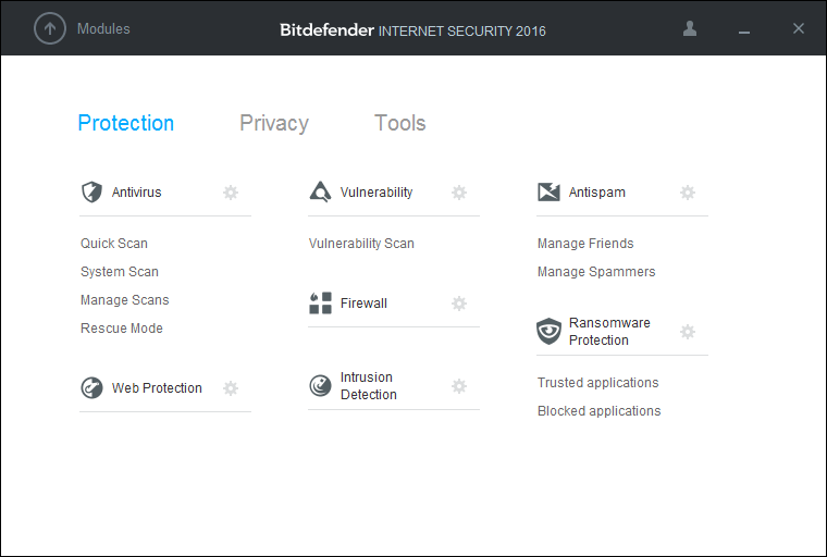 Скриншот антивируса Bitdefender Internet Security 2016