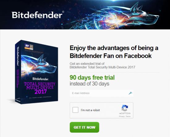 получение бесплатной лицензии битдефендер
