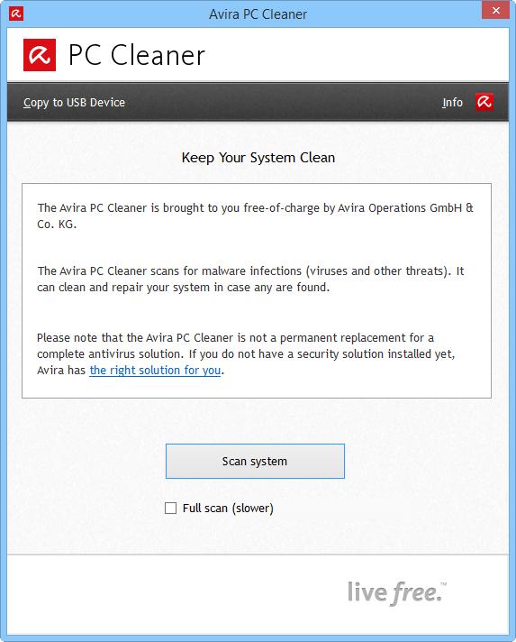 Скриншот антивируса Avira PC Cleaner