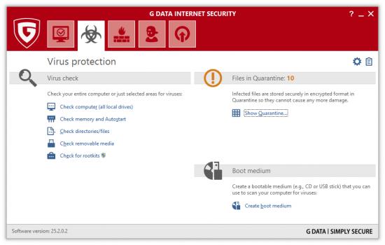 Gdata antivirus IS