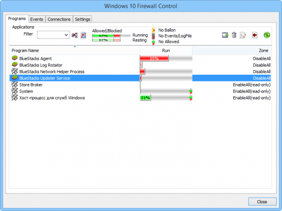 Windows 10 Firewall Control скачать